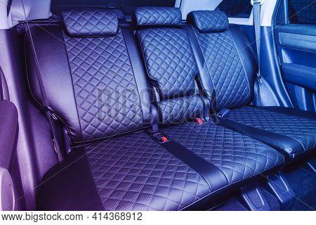Novosibirsk, Russia - March 26  2021: Honda Cr-v, Comfort Car Inside. Clean Car Interior: Black Back