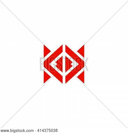Abstract Square Geometric Triangles Arrows Letter Kk Logo Vector