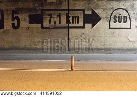 Escape Route In A Tunnel
