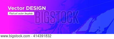 Abstract Fluid. Purple Pink Gradient Motion. Creative Flow Flyer. Alcohol Inks Paint Wallpaper. Mini