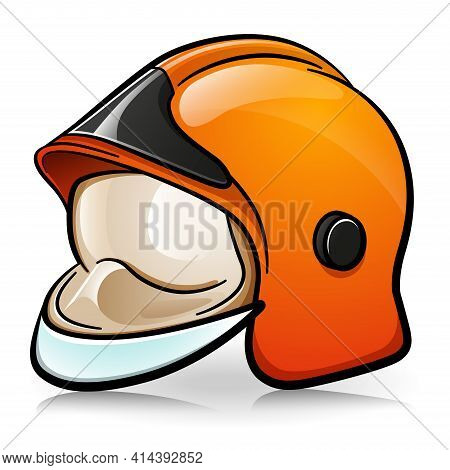 Vector Firefighter Helmet Cartoon Illustration
