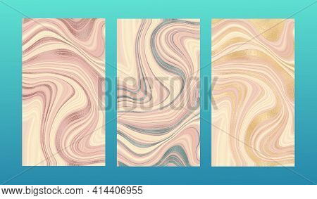 Golden Pink Marble. Satin Smooth. A Beautiful Combination Of Pink Marble And Gold. For Invitations A