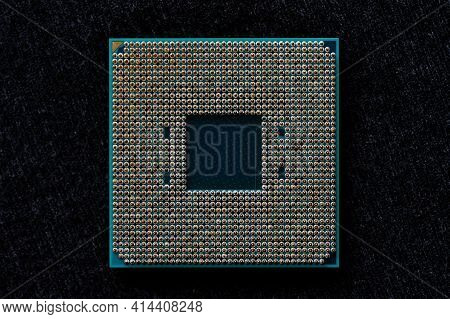 Processor To The Computer. Concept For Technology And Computing. Detail Of Connectors. Cpu Chip Proc