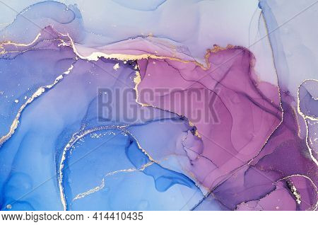 Alcohol Ink Colors Translucent. Abstract Multicolored Marble Texture Background. Design Wrapping Pap