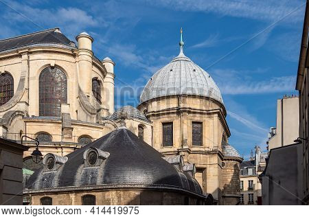View To The Church Saint-sulpice In Paris, France.