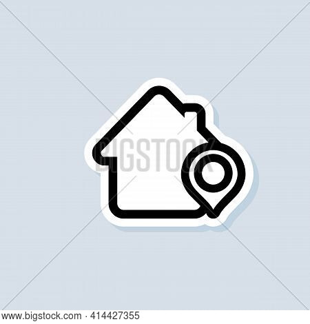 Store Location Sticker. Shop With Pinpoint Location. Grocery Store Nearby. Supermarket Logo. Vector