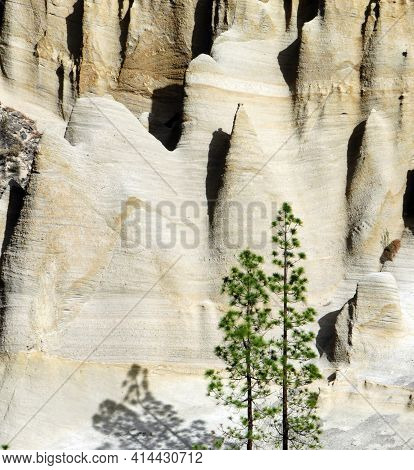 Background Of Geological Formations Sculpted By Erosion. Scenic View Of Rare Geological Rocks In A V