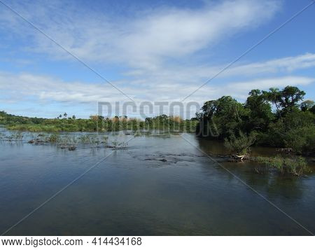 The Rio Iguazu River, Brazil. High Quality Photo