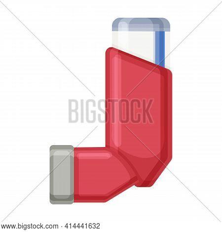 Inhaler Vector Icon.cartoon Vector Icon Isolated On White Background Inhaler.