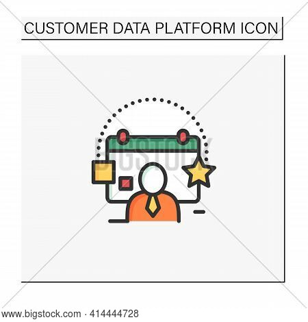 Customer Events Color Icon.emphasize Biggest Achievements, Present New Products Or Keep Good Contact