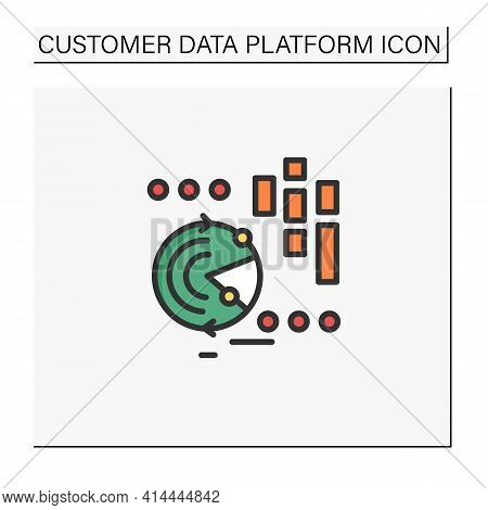 Continuously Data Update Color Icon. Continuous Process Of Updating Users Data, Personal Information