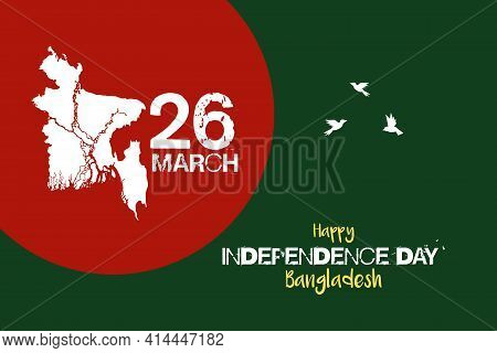 Happy Independence Day Bangladesh Vector Background Design. 26 March National Independence Celebrati