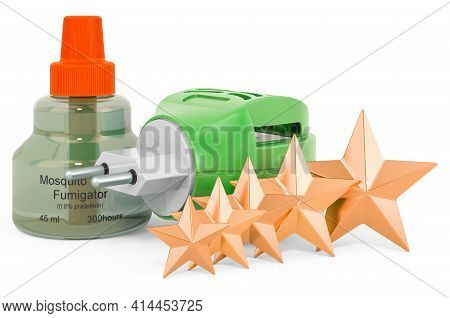 Customer Rating Of Fumigator. 3d Rendering Isolated On White Background