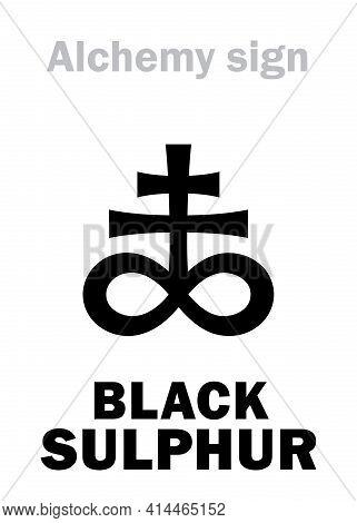 Alchemy Alphabet: Black Sulphur (sulphur Nigrum), Black Brimstone, Also: Metacinnabar, Aethiops Mine