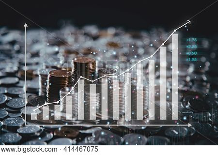 Stock Market Graphs And Chart Analysis Business Analysis Show Profit With A Business Chart The World