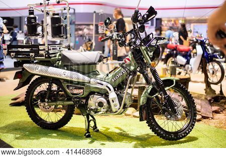 Nonthaburi, Thailand - March 25,2021 : View Of Honda Ct 125 Trail Hunter On Display At Thailand Inte