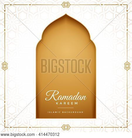 Eid Mubarak Ramadan Kareem Islamic Greeting Design