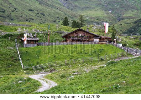 Mountain hut in South Tyrol, Italy