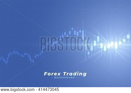 Business Stock Market Forex Trading Background Vector Template Design