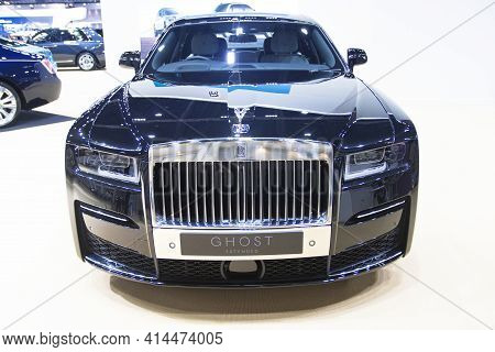 Bangkok Thailand :- March 26 ,2021 :- Rolls-royce Car Show At At  Exhibition Bangkok International M