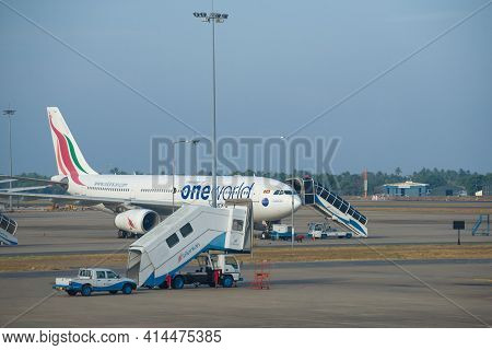 Colombo, Sri Lanka - February 24, 2020: Airbus A330-200 (4r-alh) Srilankan Airlines On The Airfield
