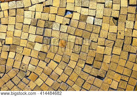 A Background From Some Golden Mosaic Tiles