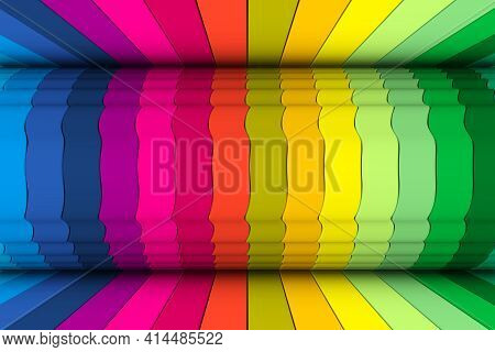 Colorful Waves Abstract Background 3d Render Illustration