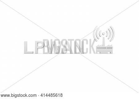 Lpwan Concept White Background 3d Render Illustration