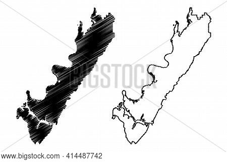 Meigs County, State Of Tennessee (u.s. County, United States Of America, Usa, U.s., Us) Map Vector I