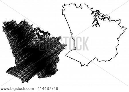 Monroe County, State Of Tennessee (u.s. County, United States Of America, Usa, U.s., Us) Map Vector