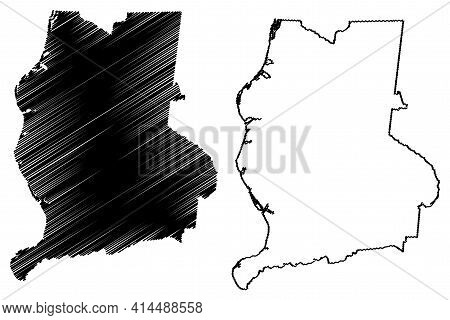 Perry County, State Of Tennessee (u.s. County, United States Of America, Usa, U.s., Us) Map Vector I