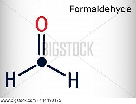Formaldehyde, Methanol, Methylene Oxide, Methylaldehyde, Oxomethane Molecule. Skeletal Chemical Form
