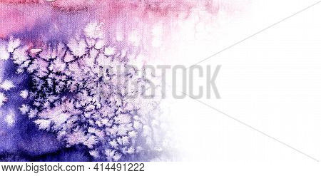 Abstract Colorful Texture Of Watercolor Splashes . Pink Purple Color Watercolor Horizontal Backgroun