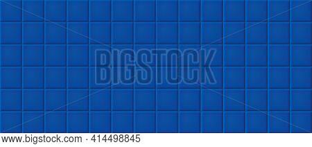 Dark Blue Ceramic Tiles Texture Abstract Background Vector