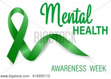 Mental Health Awareness Is An Annual Campaign To Raise Awareness About Mental Health. Vector Illustr