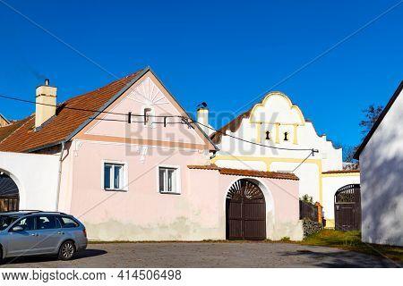 Village monument reserve Nahorany near Volyne, Western Bohemia, Czech Republic
