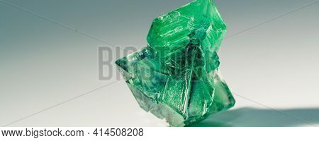 Precious crystal nugget. Mineral for the manufacture of jewelry and for industrial applications