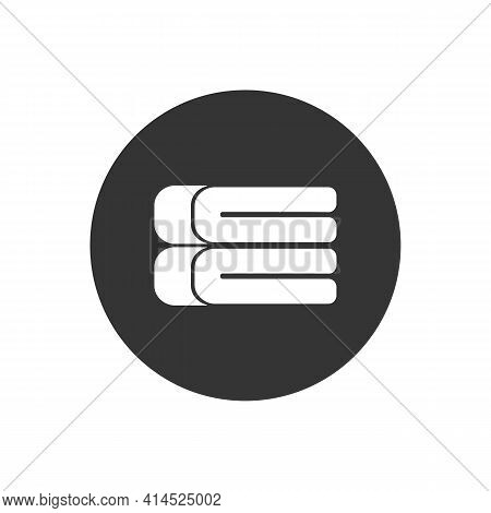 Stack Soft Blanket White Icon. Simple Illustration Of Stack Soft Blanket Vector Icon For Web Design