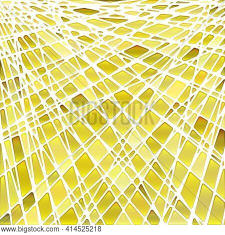 Abstract Vector Stained-glass Mosaic Background - Orange And Yellow