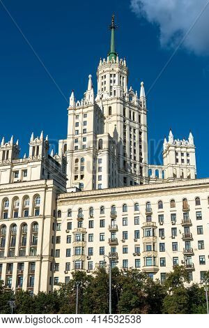 Building On Kotelnicheskaya Embankment, Moscow, Russia. It Is One Of Seven Skyscrapers Built In Stal