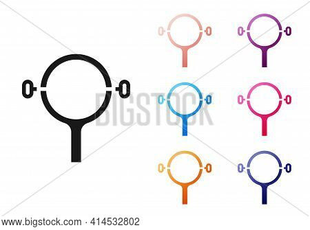Black Filter Wrench Icon Isolated On White Background. The Key For Tightening The Bulb Filter Trunk.