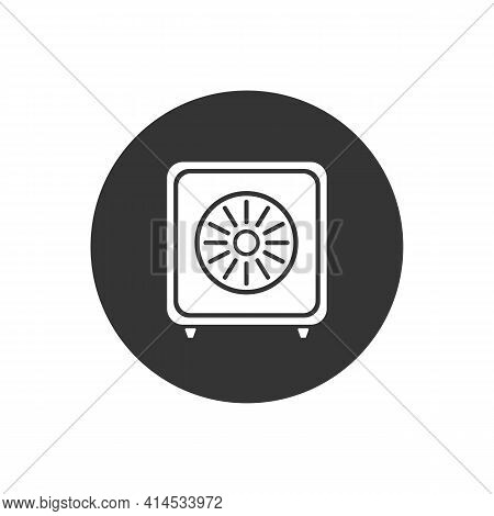 Bank Safe White Icon. Linear Style Closed Safe Isolated. Security Single Isolated Modern Line Design