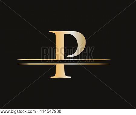 P Logo Design For Business And Company Identity. Creative P Letter With Luxury Concept