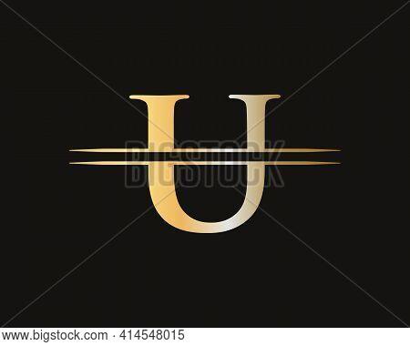 U Letter Logo. Initial U Letter Business Logo Design Vector Template