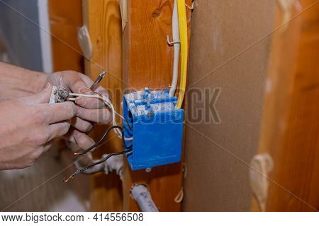 Preparing To Remove An Electrical Outlet Of The Screws For Electrical Wires Receptacle Plug Panel