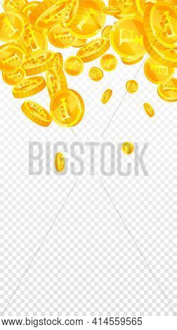 Swiss Franc Coins Falling. Powerful Scattered Chf Coins. Switzerland Money. Fancy Jackpot, Wealth Or