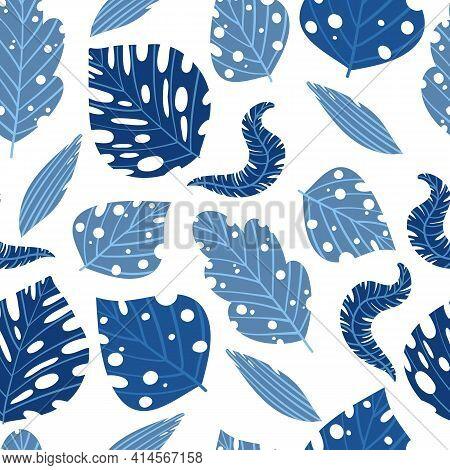 Tropical Pattern Pattern. Cartoon Illustration Of Tropical Pattern Vector Pattern For Web Design