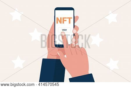 Nft Non Fungible Token, Crypto Art, Cryptoart, Cryptocurrency, Blockchain Cryptographic.