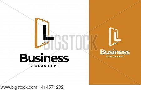L-initial Phone Logo Designs, Phone Shop Logo Designs, Modern Phone Logo Designs Vector Icon