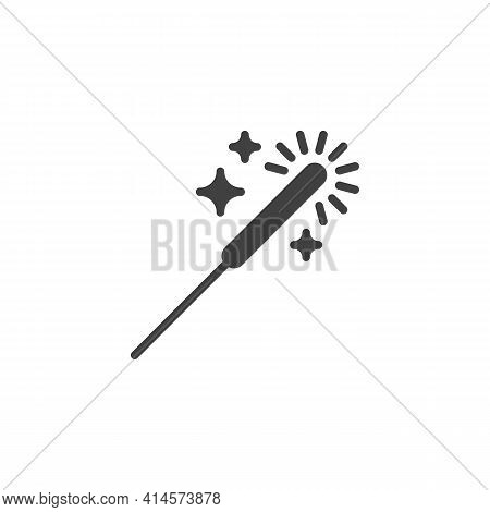 Sparkler Stick Vector Icon. Filled Flat Sign For Mobile Concept And Web Design. Bengal Light Glyph I
